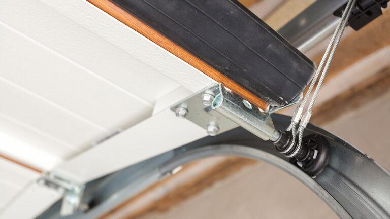 garage door track repair - adjust and replace